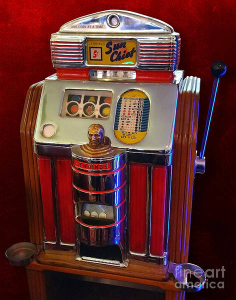 Painting - Sun Chief Vintage Slot Machine by Gregory Dyer