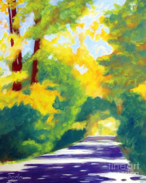Upstate New York Painting - Sun Dappled Road by Antony Galbraith