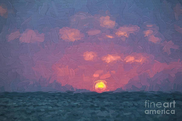 Painting - Sun Down by David Letts