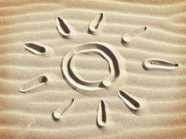 Sketch Holiday Photograph - Sun Drawn In The Sand by Mihaela Pater