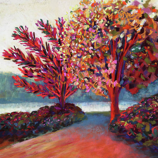 Painting - Sun Drenched By The River by Polly Castor