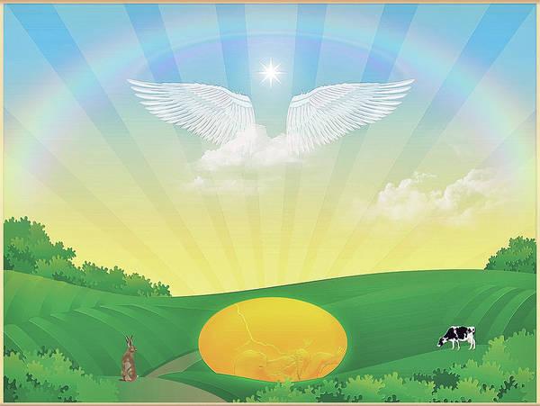 Wall Art - Digital Art - Sun Egg by Harald Dastis
