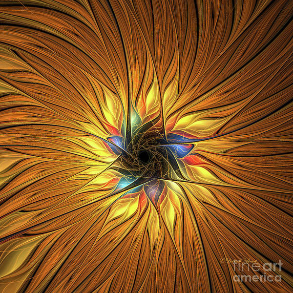 Digital Art - Sun Glow by Deborah Benoit
