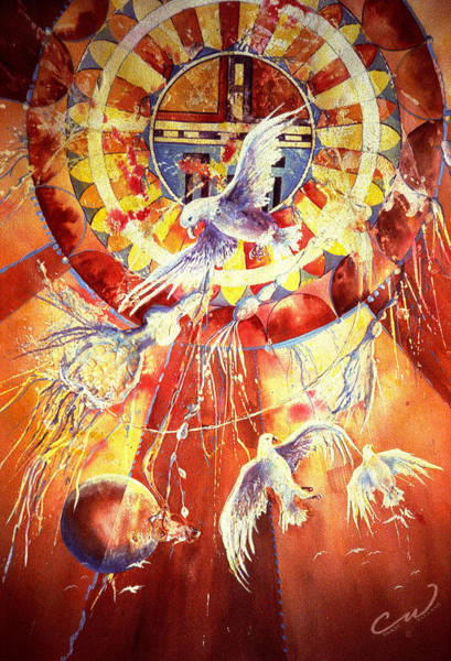 Painting - Sun God by Connie Williams