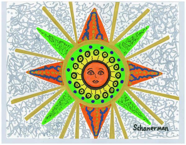 Drawing - Sun Goddess by Susan Schanerman