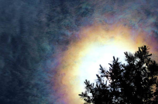 22 Degree Halo Wall Art - Photograph - Sun Halo by Stamp City