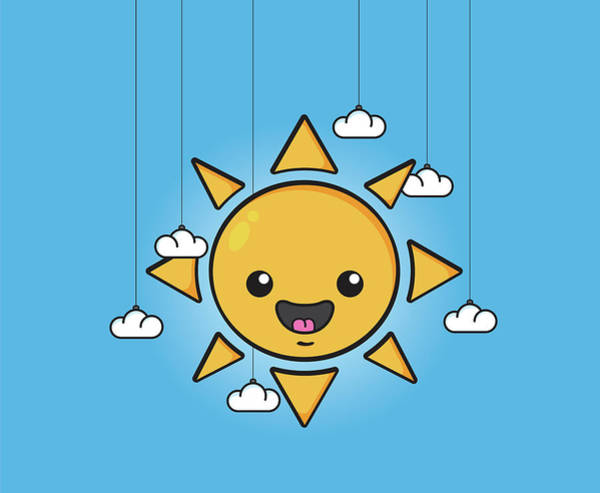 Cloud Digital Art - Sun Is Shining In The Sky by Samuel Whitton