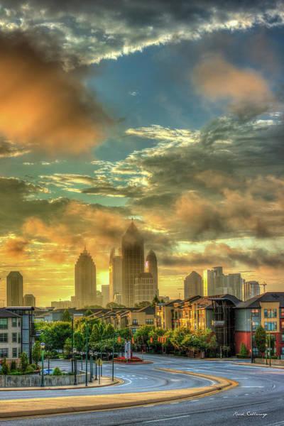 Photograph - Sun Is Up Midtown Atlanta Atlantic Station 2 by Reid Callaway