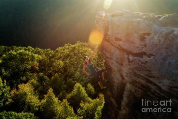 Photograph - Sun Kissed Climber by Dan Friend