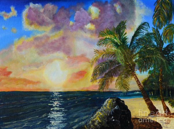 Sw Painting - Sun Kissed Palm by Christine Dekkers