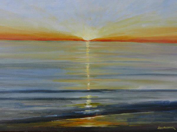 Laguna Beach Painting - Sun Light by John Loyd Rushing
