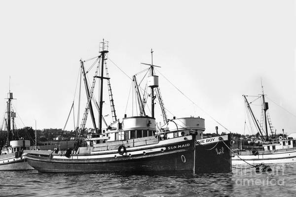 Photograph - Sun Maid And Jonnie Boy Monterey Fishing Boats by California Views Archives Mr Pat Hathaway Archives