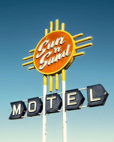 Historic Route 66 Photograph - Sun 'n Sand by Humboldt Street