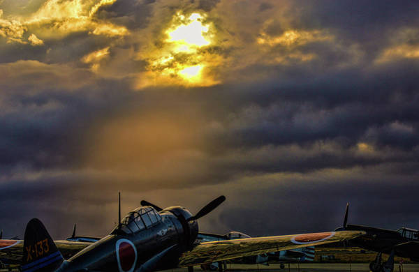 Japanese Zero Photograph - Sun Never Sets On The Rising Sun by Tommy Anderson