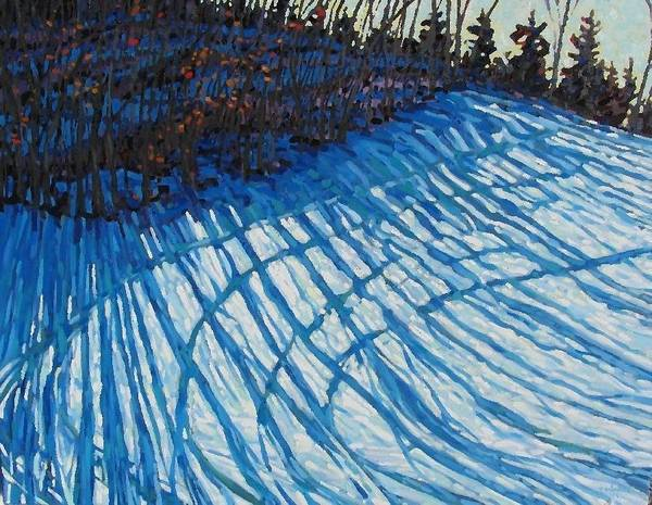 Watershed Painting - Sun Of Winter Shadows by Phil Chadwick