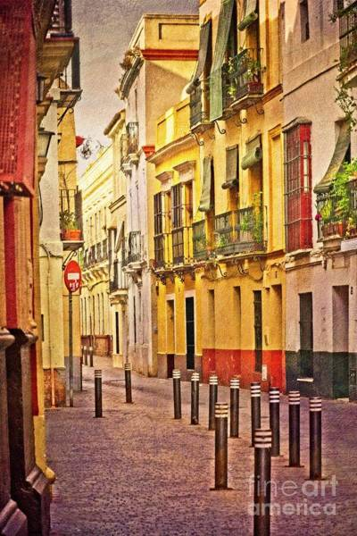Wall Art - Photograph - Sun On A Seville Street by Mary Machare