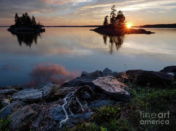 Photograph - Sun On The Horizon, Harpswell, Maine  #99068-71 by John Bald