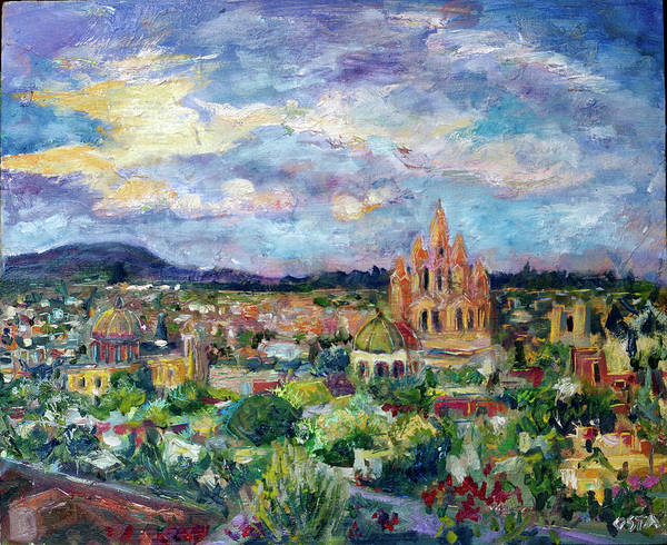 Wall Art - Painting - Sun Over San Miguel by Andrew Osta