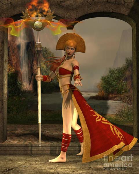 Genie Painting - Sun Priestess by Corey Ford