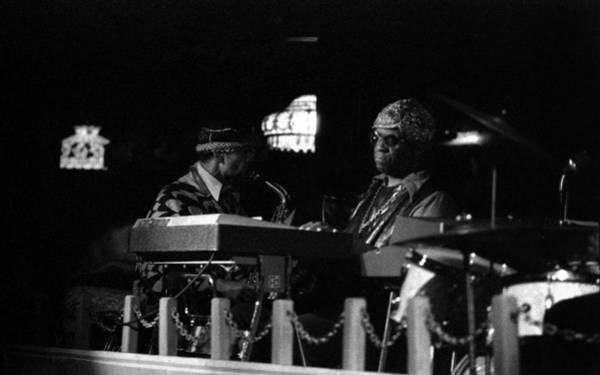 Photograph - Sun Ra Arkestra At The Red Garter 1970 Nyc 14 by Lee Santa