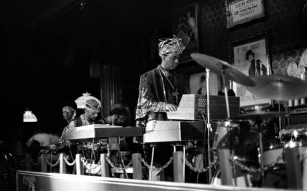 Photograph - Sun Ra Arkestra At The Red Garter 1970 Nyc 37 by Lee Santa
