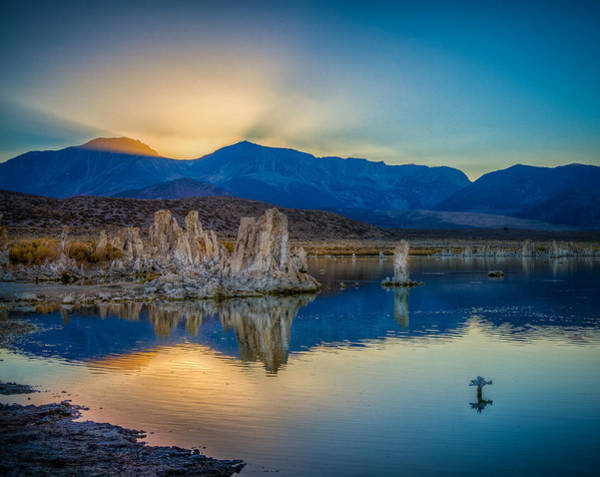 Photograph - Sun Rays At Mono Lake by Rikk Flohr