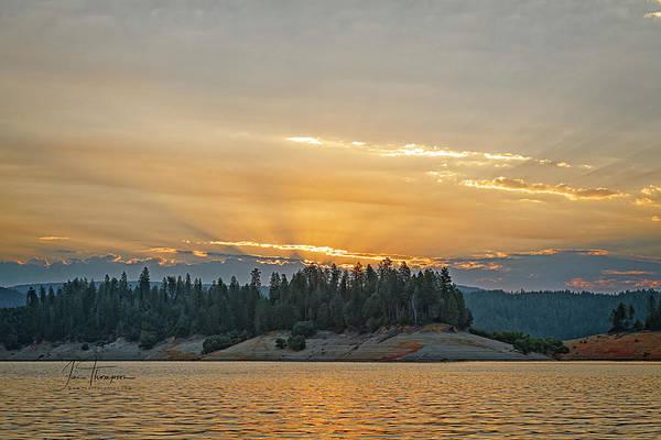 Photograph - Sun Rays At Sunrise by Jim Thompson