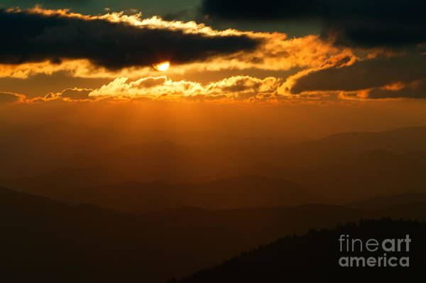 Photograph - Sun Rays At Sunset II by Clarence Holmes