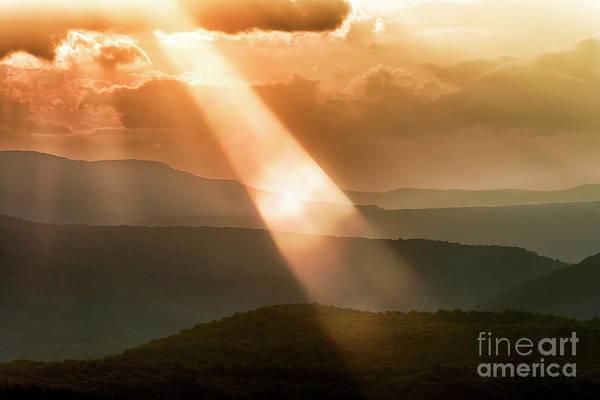 Photograph - Sun Rays Lens Flare Mountains by Thomas R Fletcher