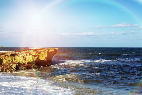 Wall Art - Photograph - Sun Rays On Shore Of Cozumel by Susan Schmitz