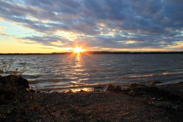 Photograph - Sun Rays Over Alum Creek by Angela Murdock