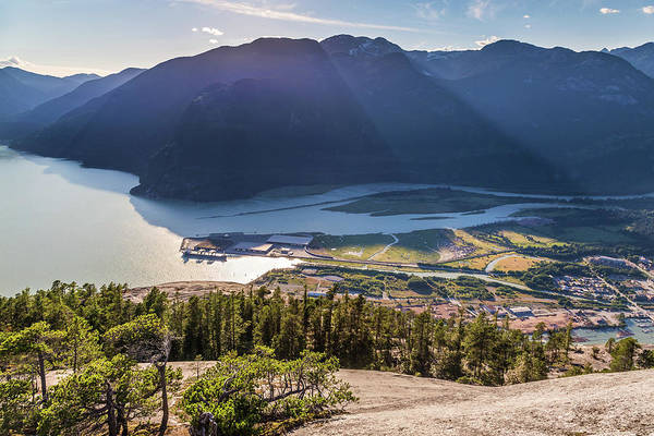 Photograph - Sun Rays Over The Mountains Of Howe Sound by Pierre Leclerc Photography