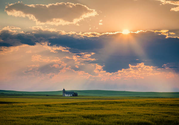 Photograph - Sun Rays Over The Old Church by Rikk Flohr