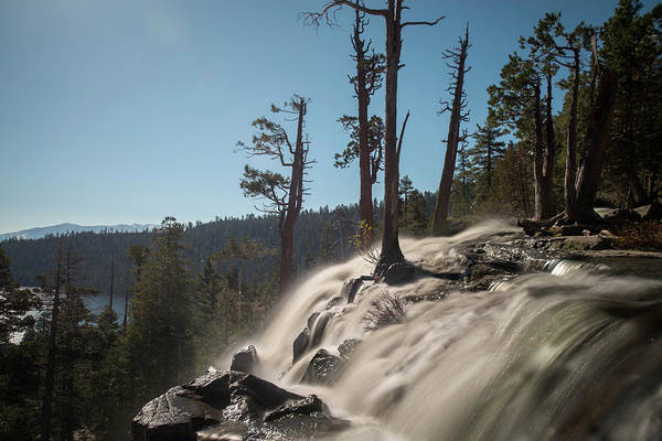 Photograph - Sun Reflecting On Waterfall At Lake Tahoe by Dan Friend