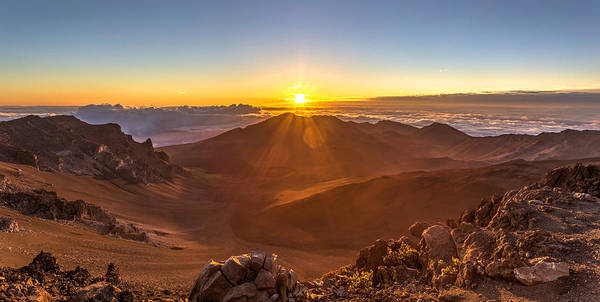 Photograph - Sun Rising Mount Haleakala by Pierre Leclerc Photography
