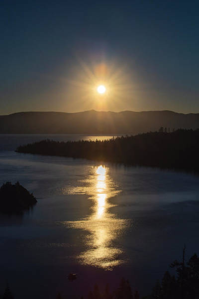 Photograph - Sun Rising Over Lake Tahoe by Jonathan Hansen