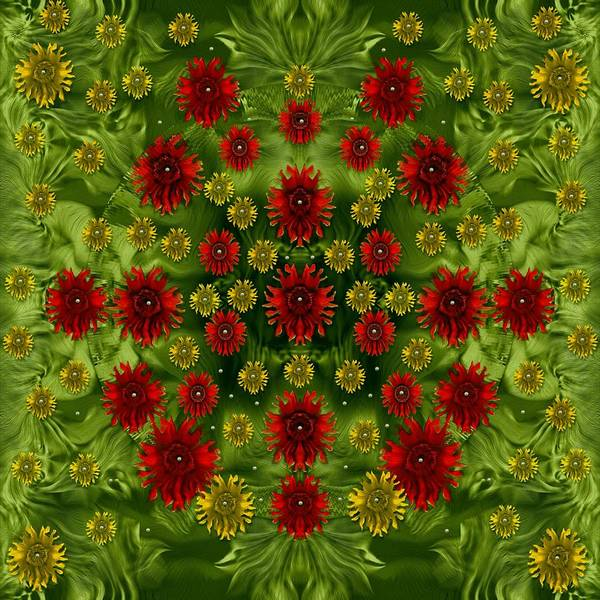 Wall Art - Mixed Media - Sun Roses In The Deep Dark Forest With Fantasy And Flair by Pepita Selles