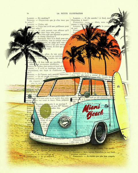 Miami Digital Art - Sun Sea Beach And Fun by Madame Memento