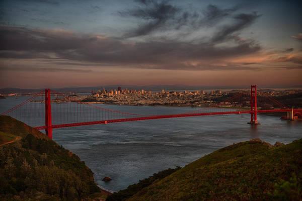 Wall Art - Photograph - Sun Set On Golden Gate Bridge by Paul Freidlund