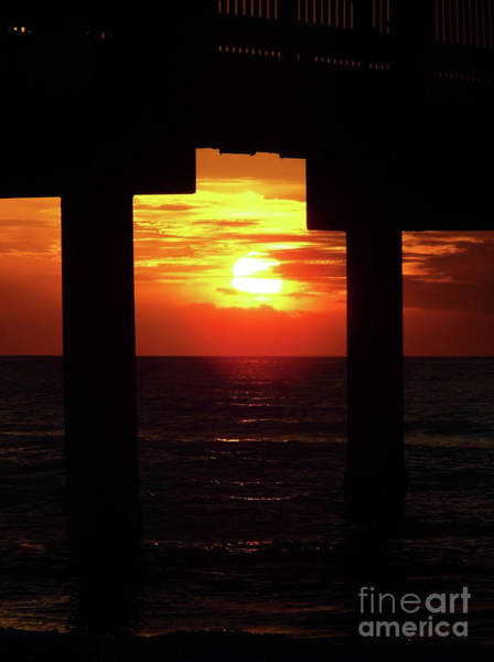 Photograph - Sun Setting At The Pier by D Hackett