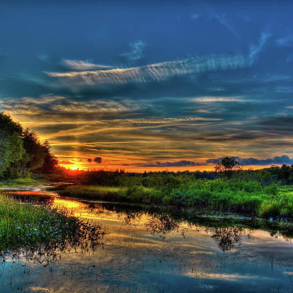 Photograph - Sun Setting In The Adirondacks by David Patterson