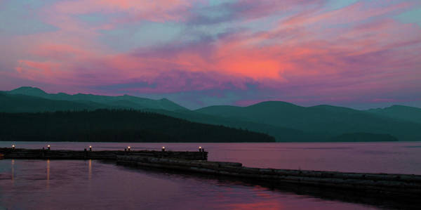 Photograph - Sun Setting On Priest Lake by David Patterson