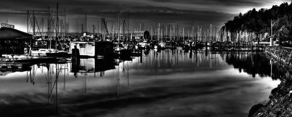 Photograph - Sun Setting On The Marina by David Patterson