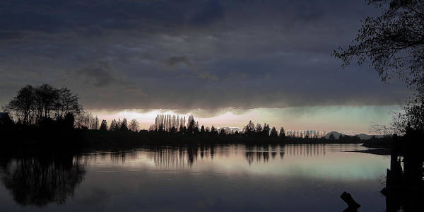 Photograph - Sun Setting On The Skagit River by David Patterson