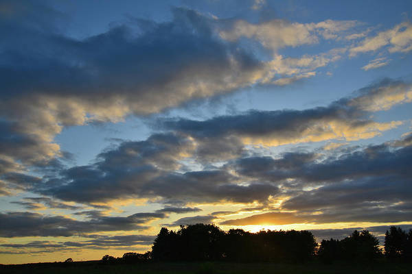 Photograph - Sun Setting Over Glacial Park Lights Evening Clouds by Ray Mathis