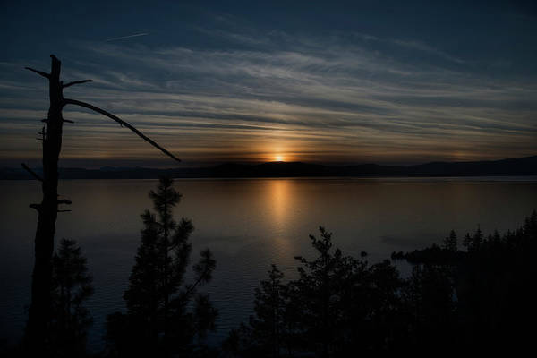 Photograph - Sun Setting Over Lake Tahoe by Dan Friend