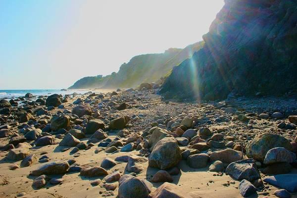 Photograph - Sun Streaming On Block Island Beach by Polly Castor