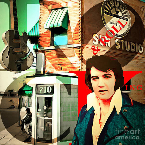 Photograph - Sun Studio Elvis Presley Birthplace And The King Of Rock And Roll by Wingsdomain Art and Photography