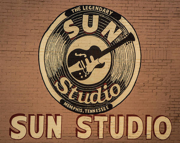 Wall Art - Photograph - Sun Studio Memphis Tennessee Sign Art by Reid Callaway
