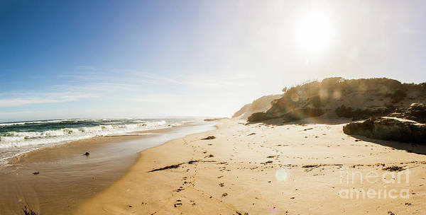 Trial Harbour Wall Art - Photograph - Sun Surf And Empty Beach Sand by Jorgo Photography - Wall Art Gallery